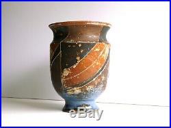 Marguerite Wildenhain Statuesque Stoneware Vase with Incised Wrap Around Design