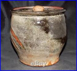 Marked Warren MacKenzie Studio Pottery Lidded Vase Shoji Hamada Bernard Leach