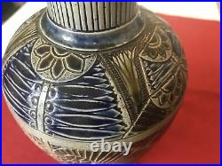 Martin Brothers, Studio Pottery Vase, 1875 13 Inches Tall