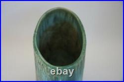 McCarty Jade Merigold Vtg Studio Pottery Mississippi Mud Ovoid Vase Nutmeg