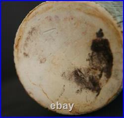 McCarty Jade Merigold Vtg Studio Pottery Mississippi Mud Tall Vase Nutmeg 12.5