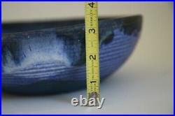McCarty large Cobalt Bowl Merigold Vtg Studio Pottery Mississippi Mud