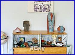 Michael Gubkin Vtg Mid Century Modern Ohio Studio Art Pottery Bowl Vase Vessel
