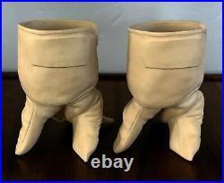 Michael Harvey Craft Bisque Porcelain Garden Glove Hand Vase Planter Pop Surreal