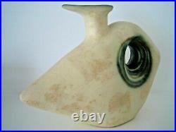 Mid 20th Century Nikos Dazelidis Abstract / Brutalist Art Pottery Ewer Vase MCM