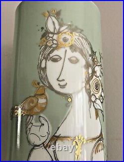 Mid Century Bjorn Wiinblad Rosenthal Studio Line SAMUMARAT 36 cm cylinder vase
