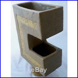 Mid Century Japanese Cantilevered Studio Art Pottery Vase