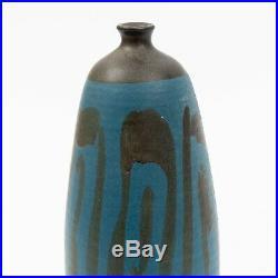 Mid Century Modern 9.5 tall Ceramic Weed Pot by Oscar Bucher California Artist