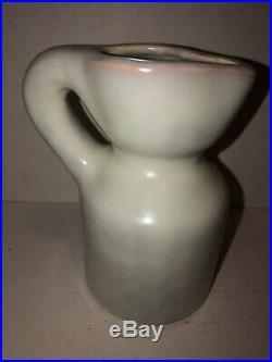 Mid Century Modern Art Hand Painted Signed Roger Capron Pitcher Vase