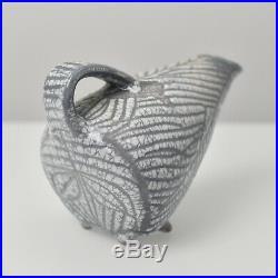Mid Century Modern Fat Lava Studio Art Pottery Object Vase Unknown Artist