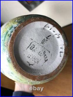 Mid Century Modern Marcello FANTONI RAYMOR ITALY Studio Art Pottery vase, signed