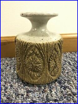 Mid Century Robert Maxwell Starburst Sunburst Studio Pottery Vase MCM California