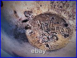 Monumental Studio Art Pottery Weed Pot Vase Signed McDonald Vintage Wood Fired