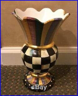NEW Authentic Mackenzie Childs Courtly Check Commemorative Great Vase Retired