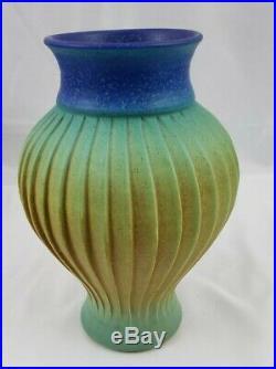 Natalie Blake Studio Art Pottery Striated Vase Vessel Handmade