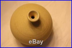 OTTO HEINO Chinese yellow vase, signed. RARE GLAZE! Vintage/Original