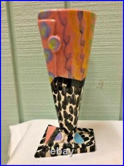 Original TED SAITO Studio 1989 Signed Artist Studio Pottery Pop Art Vase