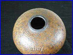 Otto Heino Master American Art Potter Mission Shibui Style Spotted Glaze Vase