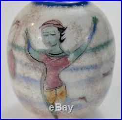 POLIA PILLIN Vase with dancing boy, bird and a boy holding a balloon and horse