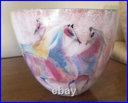 POLIA PILLIN flared bowl vase decorated with horses horse multicolor