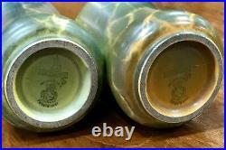 Pair Of 1920 Wilkinson Oriflamme Bud Vases Signed John Butler Mint 5 X 2 3/4