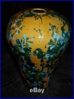 Paul Brown Porcelain Pottery, Crystalline Glaze, Hand Thrown VASE, Fine Art