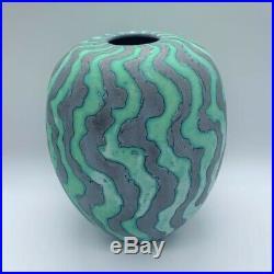 Peter Beard Contemporary Ceramic Green Vessel