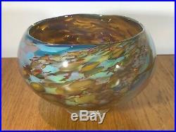 Peter Layton British Art Glass Signed Sun Reef Pattern. Glorious Piece