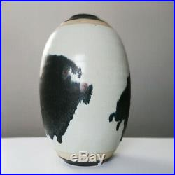 Peter Pritzl Große Studiokeramik Vase 28cm German Studio Art Pottery Modernist