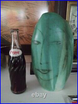 Pirgo Nylander Finland Art Pottery Face Vase -Studio Handcrafted