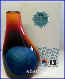 Poole Pottery Studio Alan Clarke Flare Design Asymmetrical Flask Vase