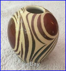 Poole Pottery studio carved vase Lorna Whitmarsh 11 rare perfect