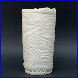 RARE Anthropologie Sherry Olsen Artist Wild Woodland Tree Stump Ceramic Vase 9