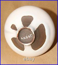 ROSE CABAT Studio Art Pottery Feelie Vase Signed Cream Onion shape