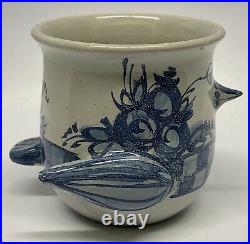 Rare Bjorn Wiinblad Verkstad Studio Pottery Bird Vase V65 Signed 1974 Denmark