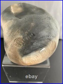 Rare Janet Leach Raku Pottery Vase. Fabulous