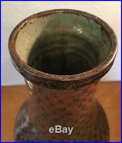Rare Jorge Wilmot Studio Pottery Vase Mid Century Modern Tonala Mexico BuyItNow