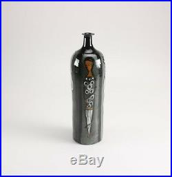 Rare Large Polia Pillin Signed Hand-Painted Four Women Art Pottery Vase 16 H