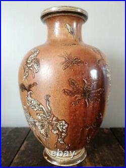 Rare Martin Brothers Stoneware Dragonfly and Lilly Vase signed and dated 1903