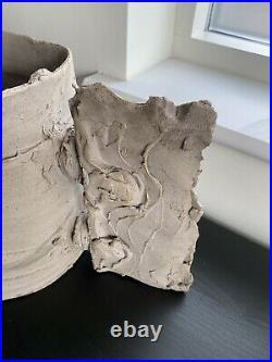 Rare Possibly Unique Huge Colin Pearson Winged Vase