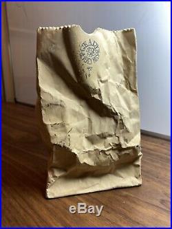 Rare Rare Vintage Gearys Beverly Hills Paper Bag Pottery Vase Lk Rosenthal