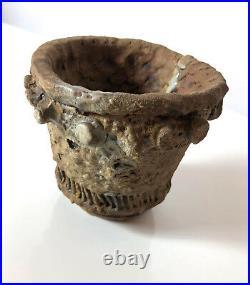 Rare Richard Jerzy Studio Pottery Ceramic Vase Vessel Detroit Mid Century Brutal