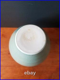Rare Simon Pearce Belmont Crackle Celadon Green Vase Urn 12 Mint Htf