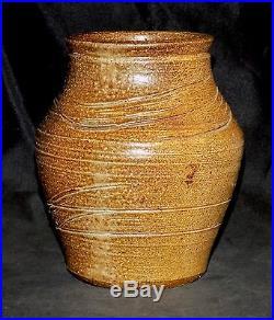 Rare Soda Fired Warren MacKenzie Pottery Vase Bernard Leach Shoji Hamada
