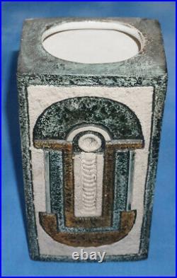 Rare Troika Studio Pottery BRICK Vase AJ 1976 Superb Colour and Design