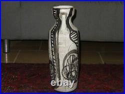 Rare vtg huge ceramic vase by N. Azaz Harsa Beer Sheva Israel