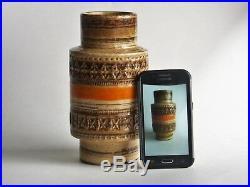 Raymor Bitossi Aldo Londi Sahara Mid-Century Vase Italy Studio Art Pottery Label
