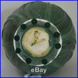 Retired Japanese Iris Vase by Ephraim Faience Pottery