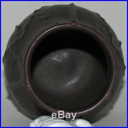 Retired Plum Leaf Cabinet Vase by Ephraim Faience Pottery