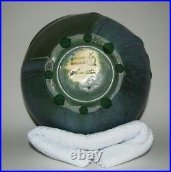 Retired Turtle Vase by Ephraim Faience Pottery